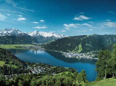 Zell am See im Alpenfrühling